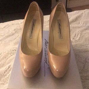 Brian Atwood Scarpa 140MM nude pumps